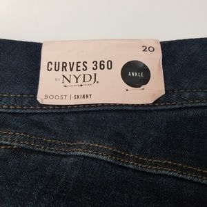 NYDJ Jeans - NYDJ Curves 360 Boost Raw Hem Skinny Jeans Size 20